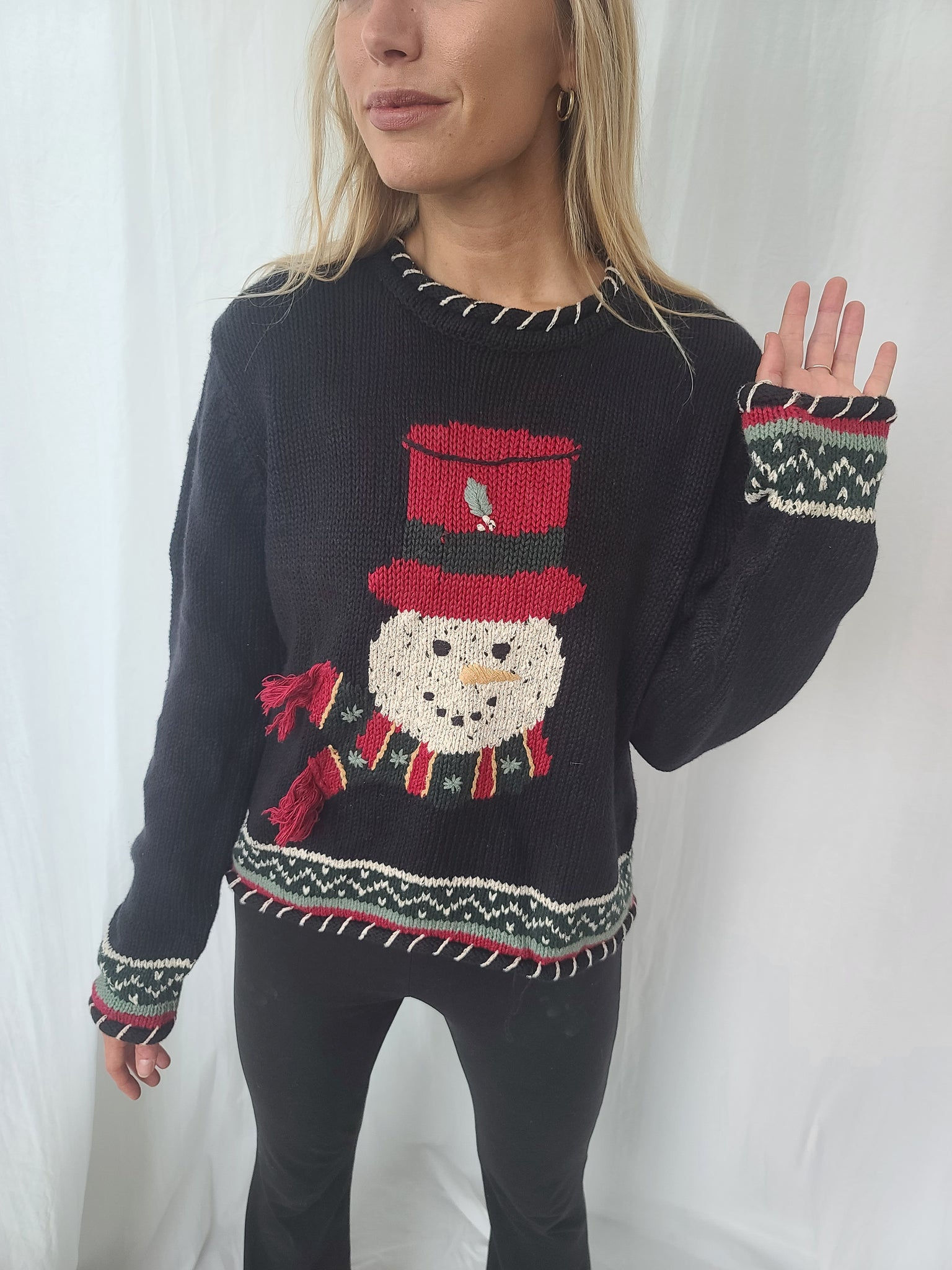 Snowman Pullover Sweater