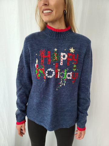 Happy Holidays Turtleneck Sweater