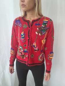 Classic Festive Holiday Cardigan Sweater