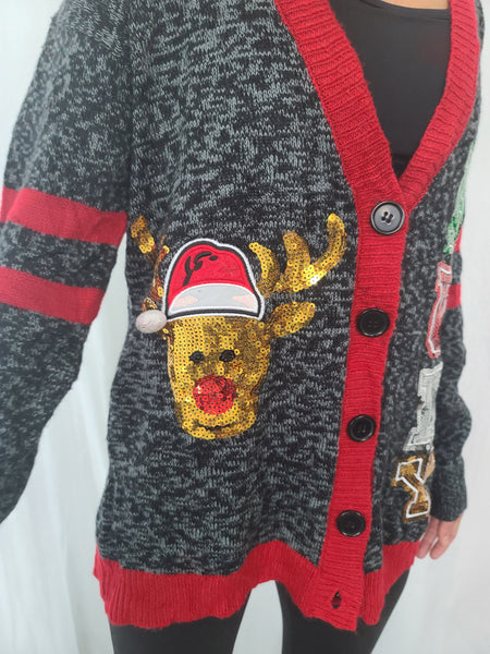 Classic Christmas Cardigan Rudy Sweater