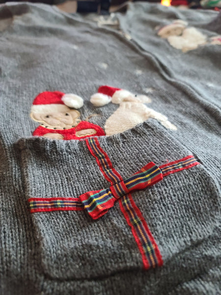 Dog Christmas Sweater with Zipper and Pocket
