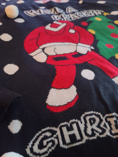 Have a Crackin Christmas Santa Sweater