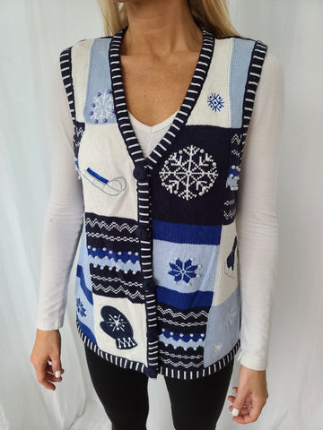 Blue Winter Decorative Vest