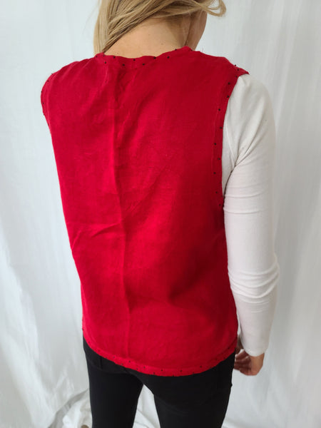 Christmas Trees Red Vest