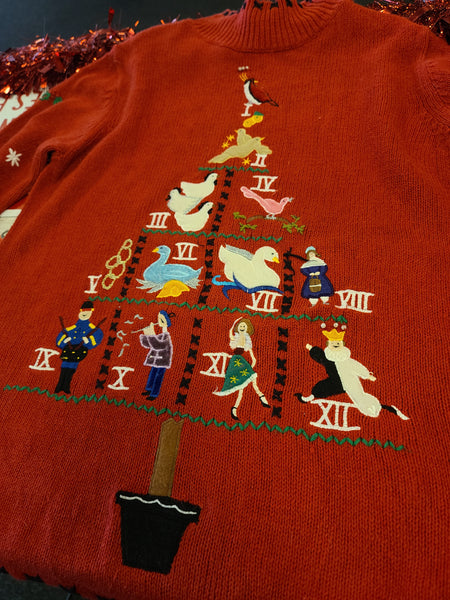 Twelve days of Christmas Tree Turtleneck Sweater