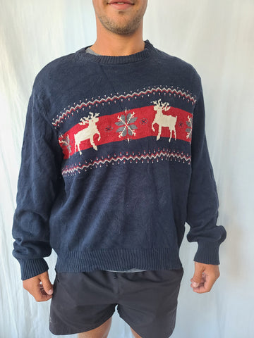 Deer and snowflake Winter Sweater