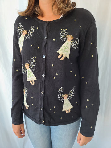 Angels and Stars button up Sweater