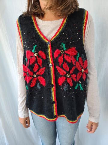 Poinsettia Vintage old school real deal Vest