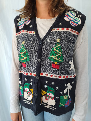 Assorted Christmas Button up Vest