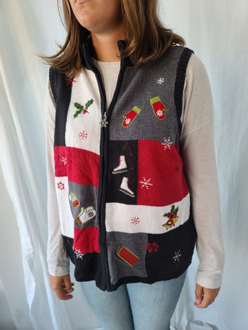 Breckenridge Zipper Christmas Vest