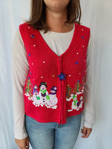 Snowmen and Stars zip up Vest