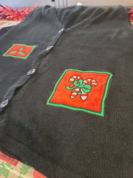 Simple Christmas Squares Christmas Vest