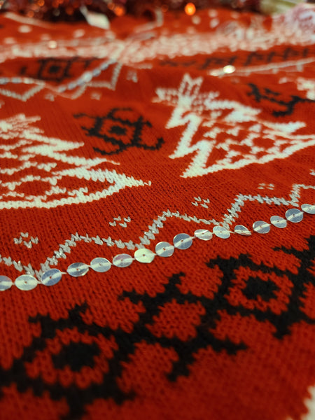 Red Winter Holiday Sweater