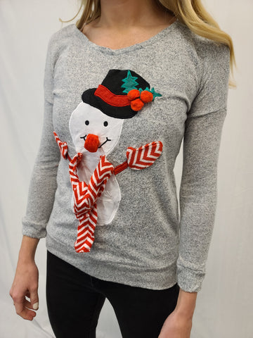 Lightweight snowman Pullover Sweater