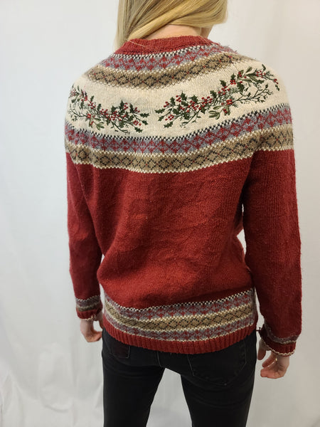 Croft and Barrow Holly Zipper Sweater