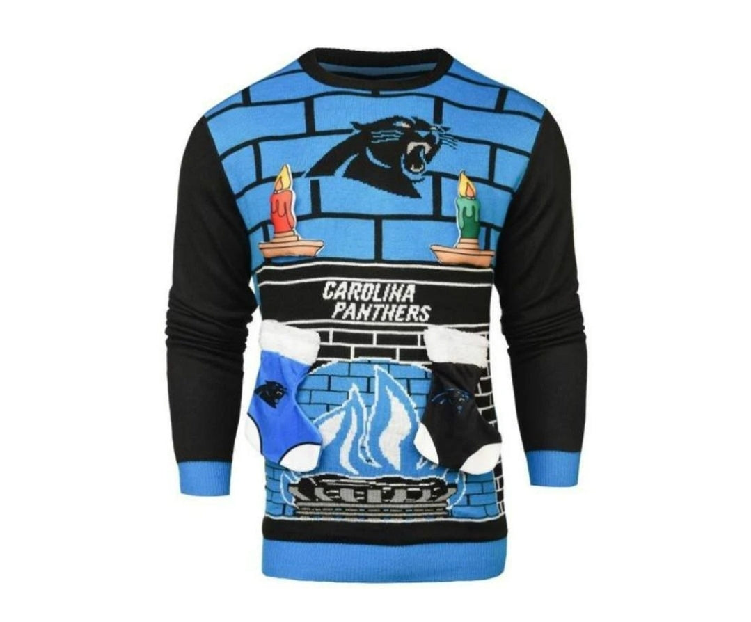 Carolina Panthers Fireplace Sweater