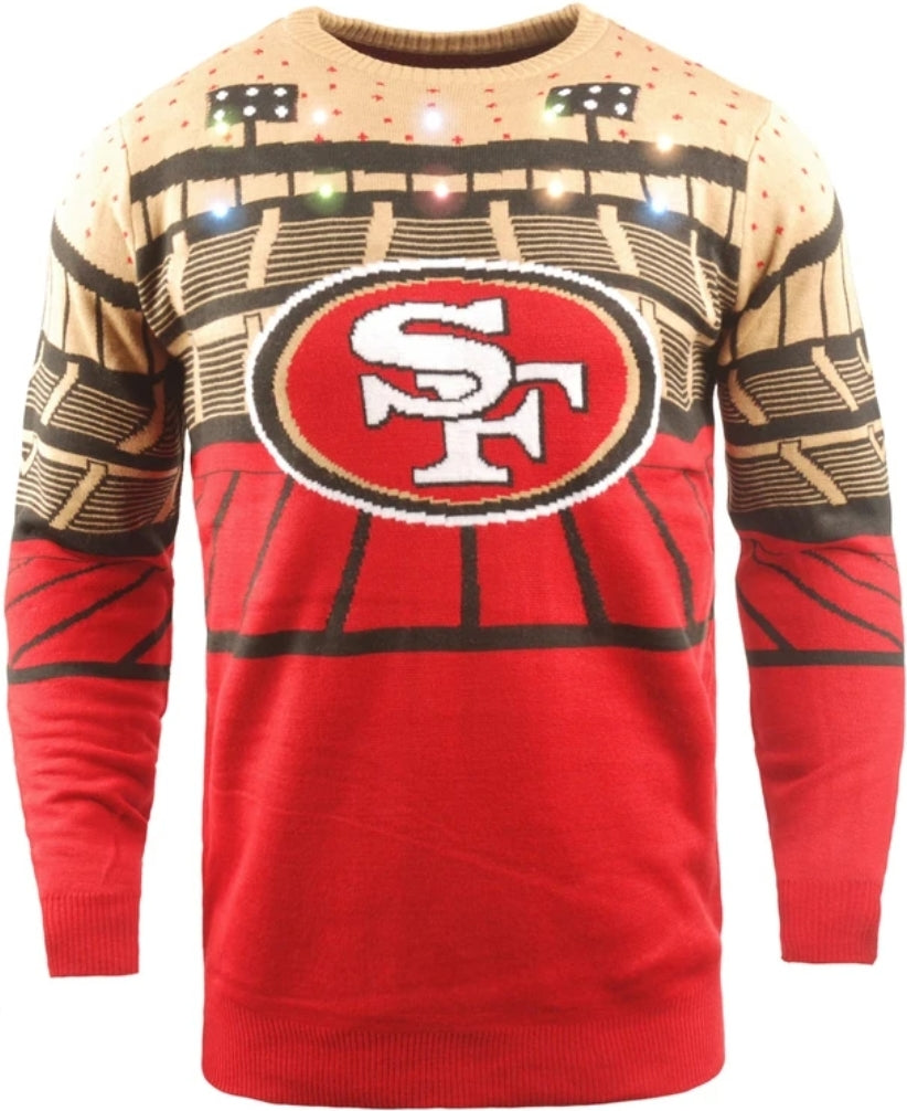 San Francisco 49ers Light-up Bluetooth Sweater