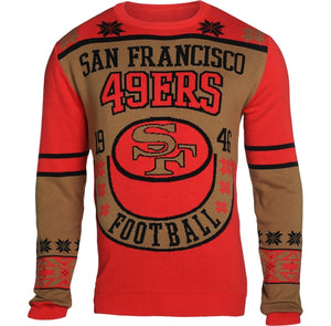 San Francisco 49ers Retro Throwback Sweater