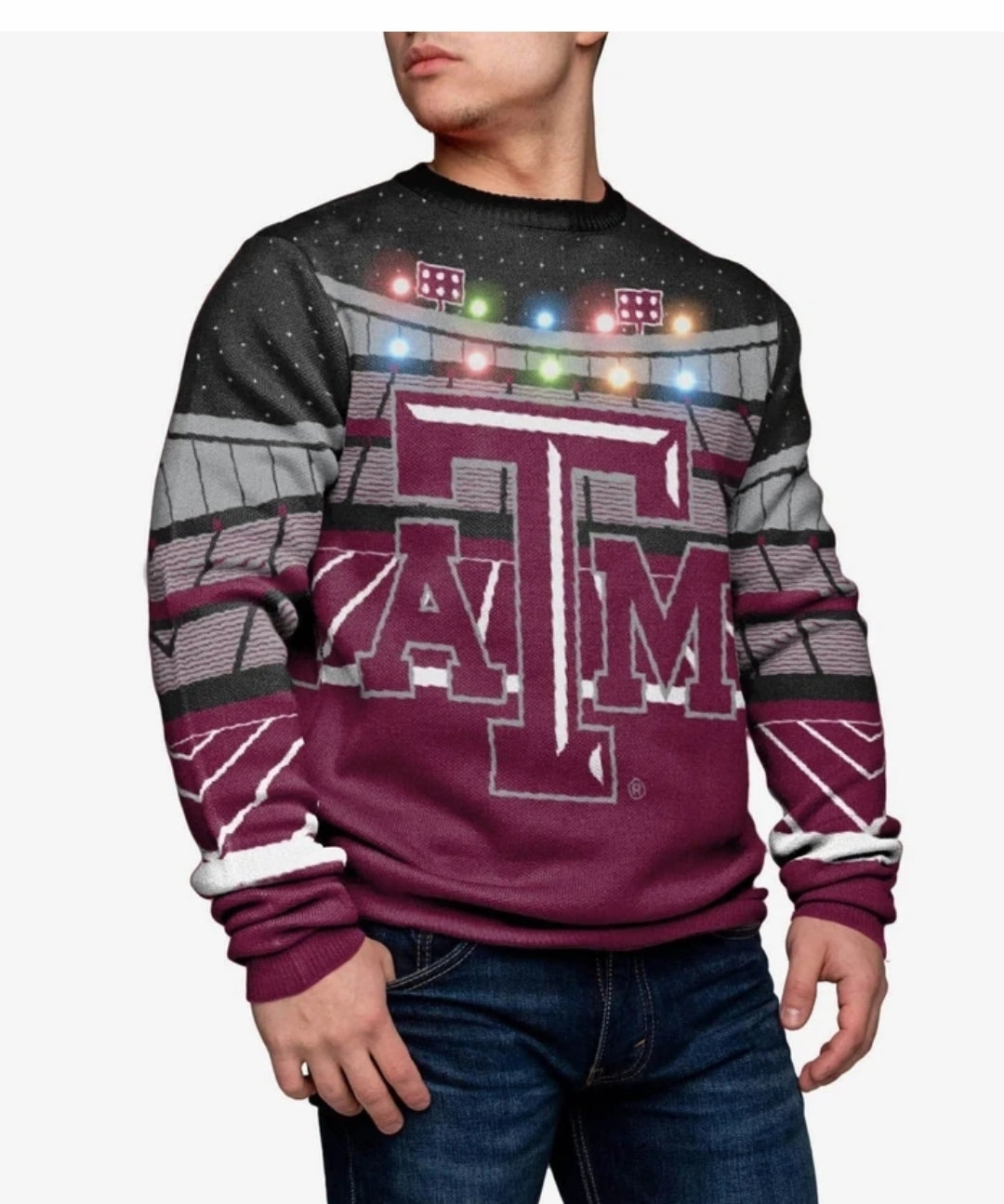 Texas A&M Aggies Light-up Bluetooth Sweater