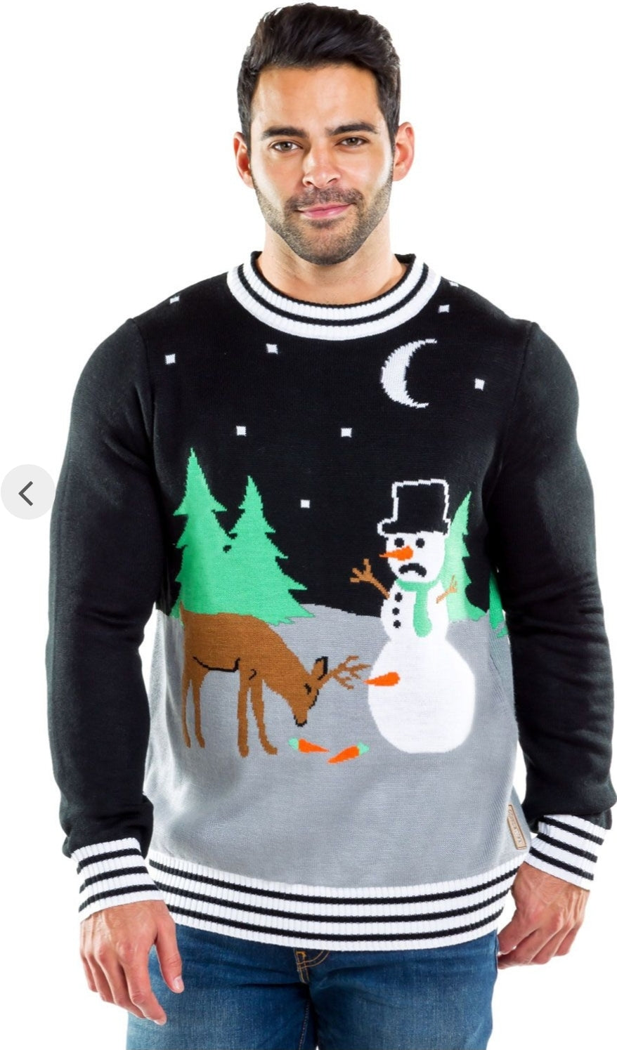 Tipsy Elves Men's Carrot Trail Nightmare Sweater