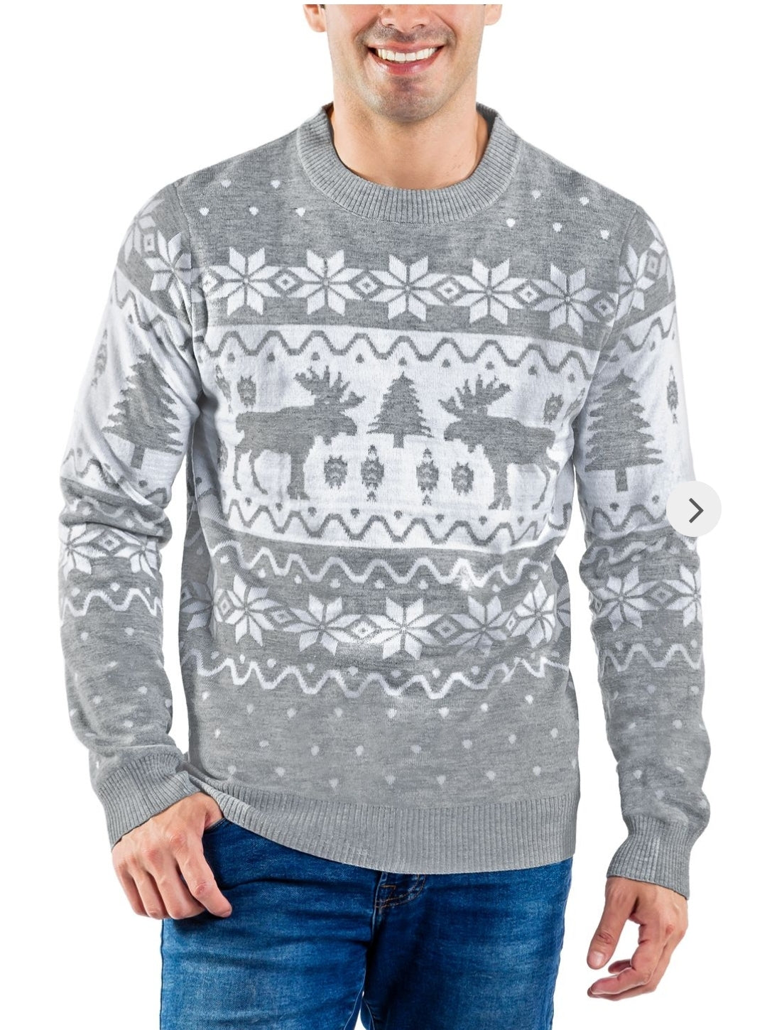 Tipsy Elves Men's Merry Moose Sweater