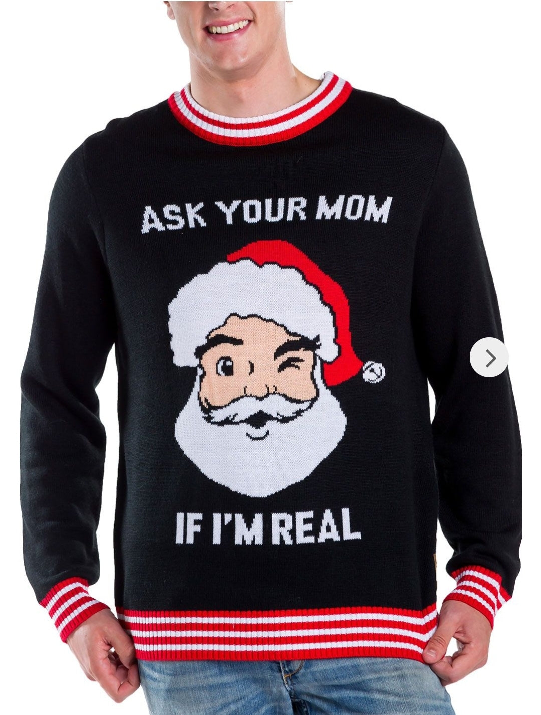 Tipsy Elves Men's Ask Your Mom Sweater