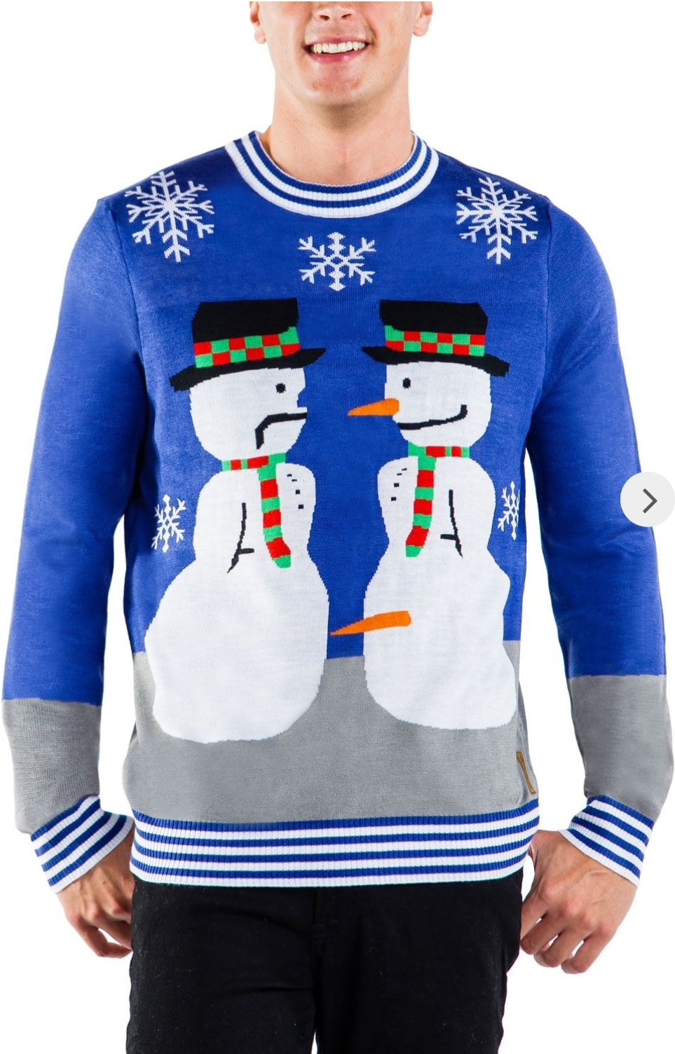 Tipsy Elves Men's Snowman Nose Thief Sweater