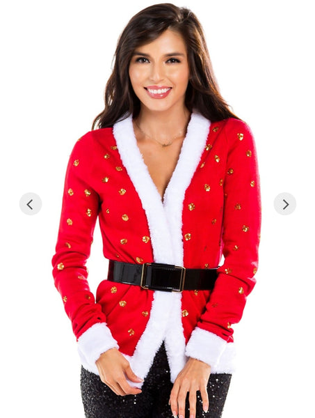 Tipsy Elves Women's Mrs. Claus Cardigan