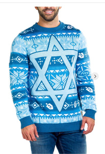 Tipsy Elves Men's Fair Isle Hanukkah