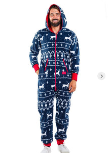 Tipsy Elves Blue Reindeer Jumpsuit