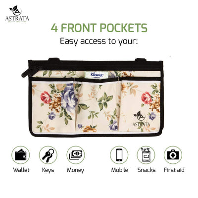 Wheelchair Side Bag Arm Rest Pouch - Flower - Astrata Health Solutions