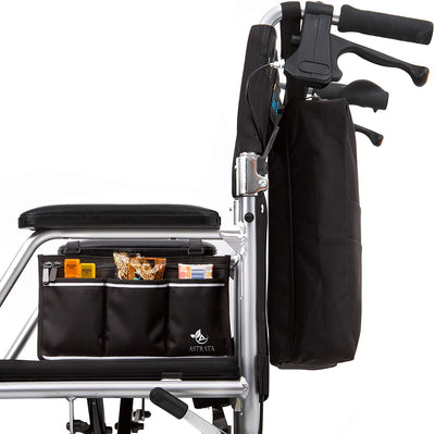 Large Wheelchair Side Bag - Black - Astrata Health Solutions