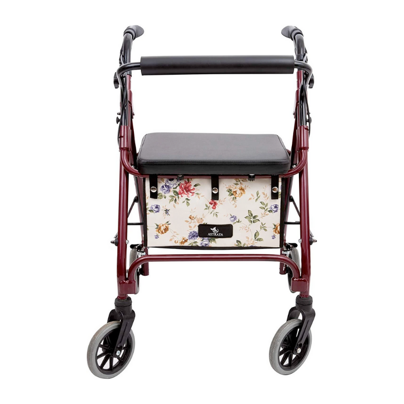 Extra Large Rollator Underseat Bag-Floral