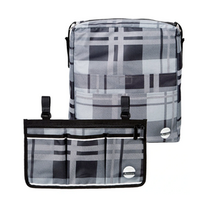 Wheelchair Bag Set - Armrest Bag and Backpack-Gray Tartan - Astrata Health