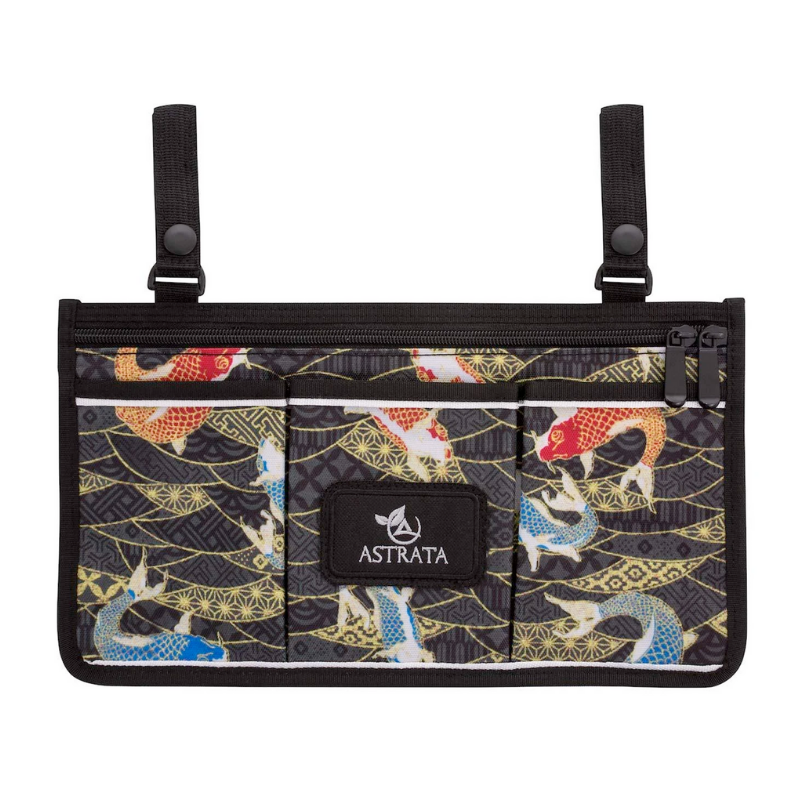 Wheelchair Side Bag Arm Rest Pouch - Japanese Koi