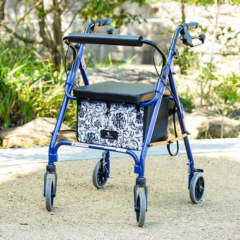 Extra Large Rollator Underseat Bag - Blue - Astrata Health