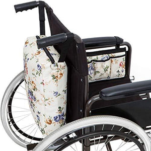 Wheelchair Bag Set - Armrest Bag and Backpack-Floral - Astrata Health