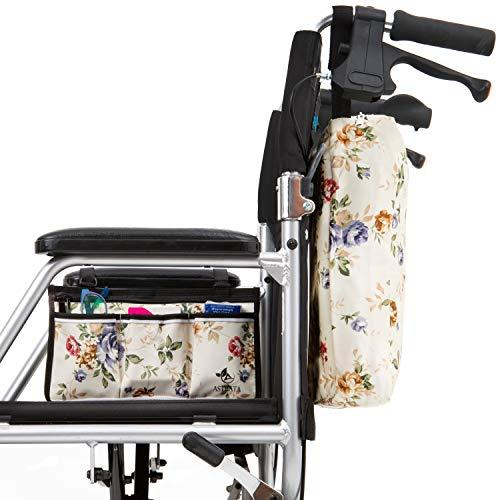 Wheelchair Bag Set - Armrest Bag and Backpack - Floral - Astrata Health