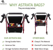 Load image into Gallery viewer, Extra Large Rollator Underseat Bag-Black - Astrata Health