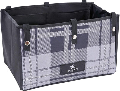 Extra Large Rollator Underseat Bag-Gray Tartan - Astrata Health