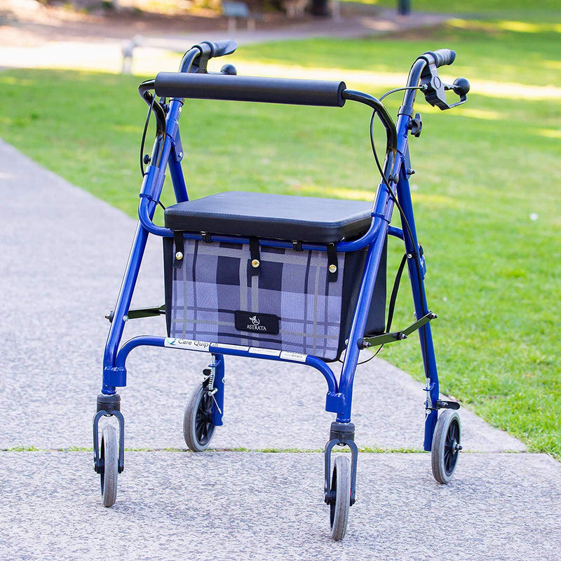 Extra Large Rollator Underseat Bag-Gray Tartan