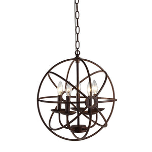 American Vintage 5-light Rust 17-inch Chandelier