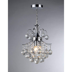 Cyan 3-light Crystal Chandelier