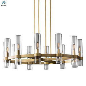 American Retro Metal Living Room Chandelier
