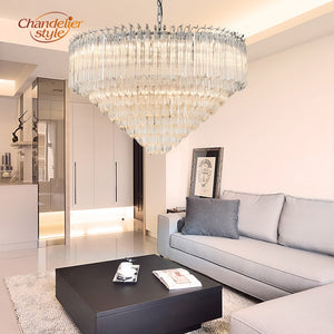 Modern Murano Glass Prism Luxury Chandelier