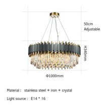 Load image into Gallery viewer, New Modern Luxury Crystal Chrome Rectangle Chandelier