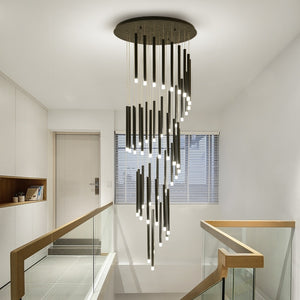 Modern luxury LED staircase chandelier