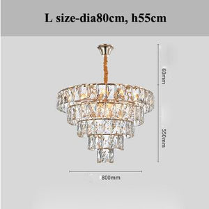 Modern Lustre Luxury Crystal Led Chandeliers