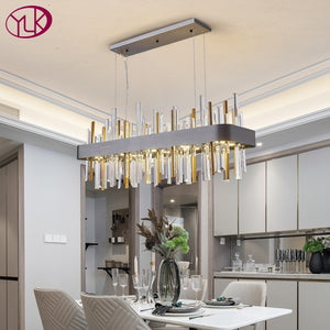 Contemporary Rectangle Luxury Modern Crystal Chandelier