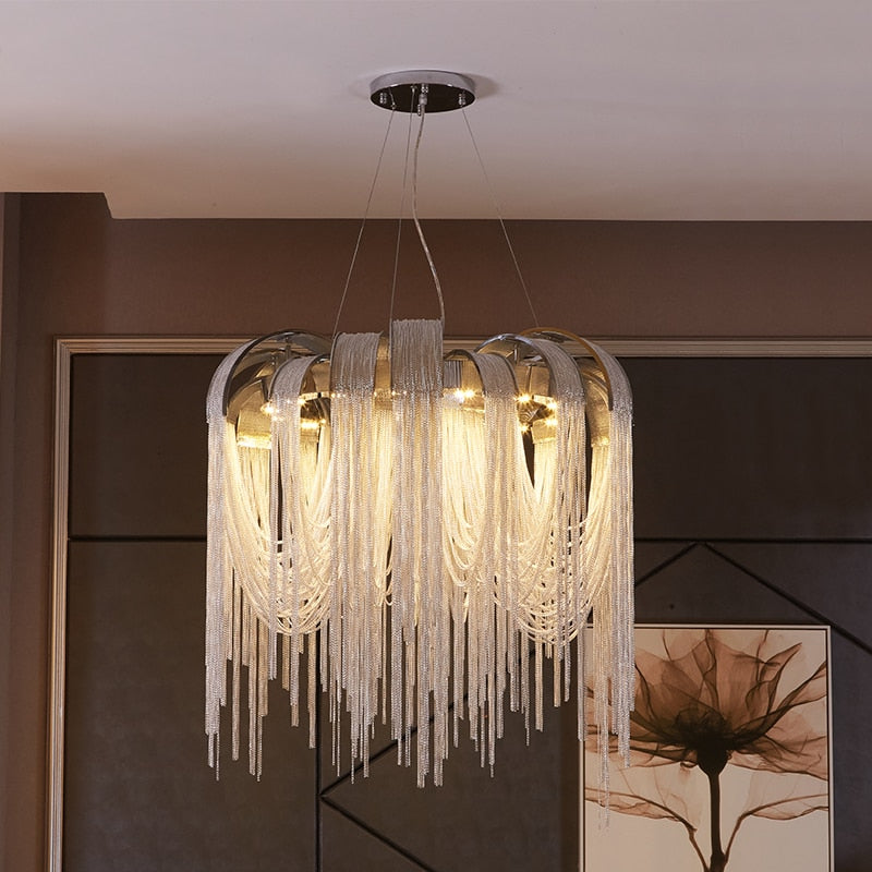 Modern New Design LED Aluminum Luxury Chandeliers